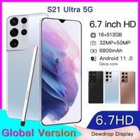 Versión Global galaxia S21 Ultra teléfonos inteligentes Ram 12GB + Rom 512GB 16GB + 128GB Smartphone Android Celulares teléfonos móviles