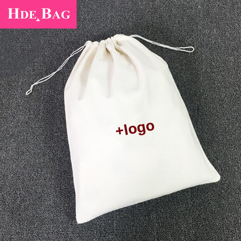 Washed Peach Skin Cashmere Drawstring Bags Soft Polyester Yarn Storage Bag For Shoes Luxury Jewelry Packaging Custom Logo Print