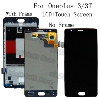 5.5 AMOLED For Oneplus 3 3T LCD display+Touch screen digitizer replacement For Oneplus A3010 A3000 A3003 OLED LCD Repair kit 5 5 lcd for oneplus two 2 a2001 lcd display touch screen digitizer assembly replacement for oneplus 2 lcd