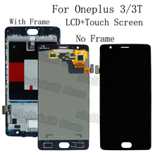 "5.5 ""AMOLED עבור Oneplus 3 3T LCD תצוגה + מסך מגע החלפת digitizer עבור Oneplus A3010 A3000 A3003 OLED LCD ערכת תיקון"