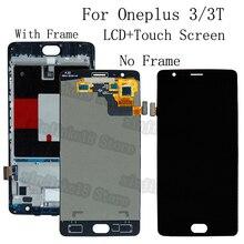 "Oneplus 3 3T LCD 디스플레이 + Oneplus A3010 A3000 A3003 OLED LCD 수리 키트 용 터치 스크린 디지타이저 교체 용 5.5 ""AMOLED"