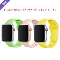 Cinturino in Silicone per Apple Watch 44mm 40mm 38mm 42 mm cinturino in gomma smartwatch bracciale iWatch serie se 6 5 4 cinturino nero