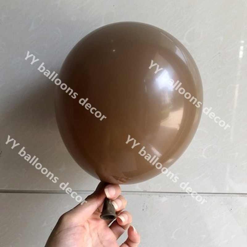 50pcs 18/10/5 Café Caramelo Polegada Globos Balões Balões De Látex De Casamento Arco de Balões De Aniversário Fontes Do Partido Decoração