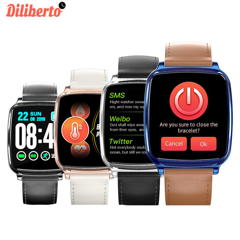 Diliberto <font><b>M8</b></font> <font><b>Smart</b></font> <font><b>Watch</b></font> Men Waterproof Blood Pressure Smartwatch Women Heart Rate Monitor Fitness Tracker <font><b>Watch</b></font> for Android IOS image