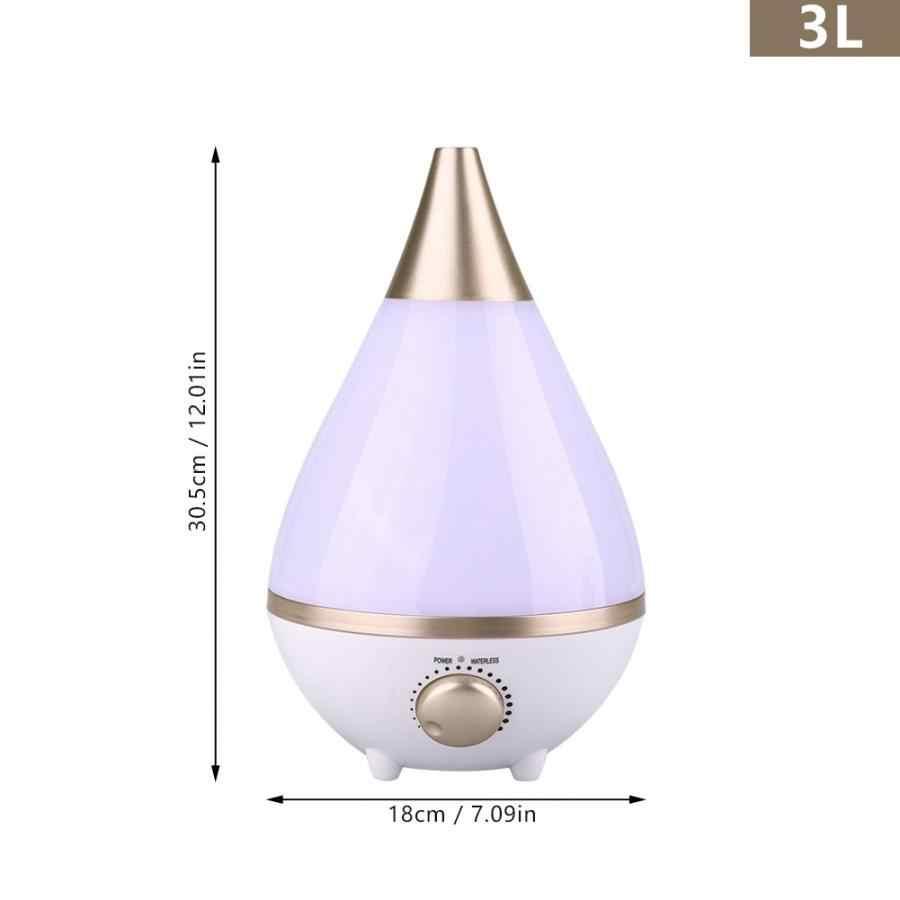 3L Zimmer Ultraschall Diffusor Aroma Luftbefeuchter Nebel Maker mit Bunte LED Nacht Licht (Eu-stecker)