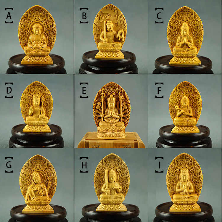 Folding Buddha Statue Box Tibetan Buddhist Statues for Home Temple Decor