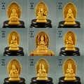 ツゲ彫刻の装飾品中国の木材仏像守っ神社千手観音彫刻家の装飾