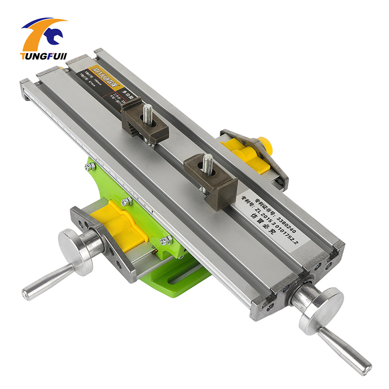 Mini Multifunctional Worktable XY 2 Axis Cross Slide Mini Precision Milling Machine Bench Drill Vise Fixture