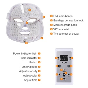 Image 5 - 7 Colors Led Facial Mask Beauty Skin Care Rejuvenation Wrinkle Acne Removal Face Beauty Therapy Whitening Tighten Instrument