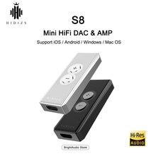 Hiodis s8 cs43140chip mini amplificador hifi, decodificação usb dac pcm 32bit/384khz nativamente dsd256 para ios/ios relâmpago de android/pc/tipo c