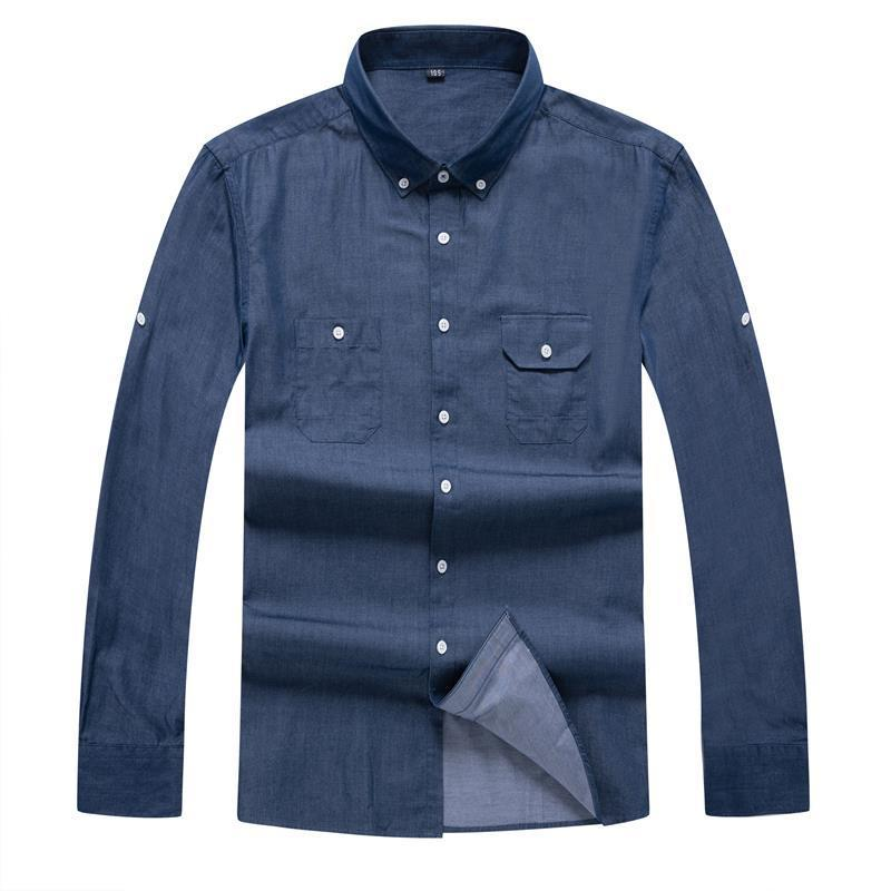 10XL 8XL 6X Design Super High Quality Cotton Men Shirts Business Casual Shirts Luxury Brand  Men Dress Shirts 100% Cotton