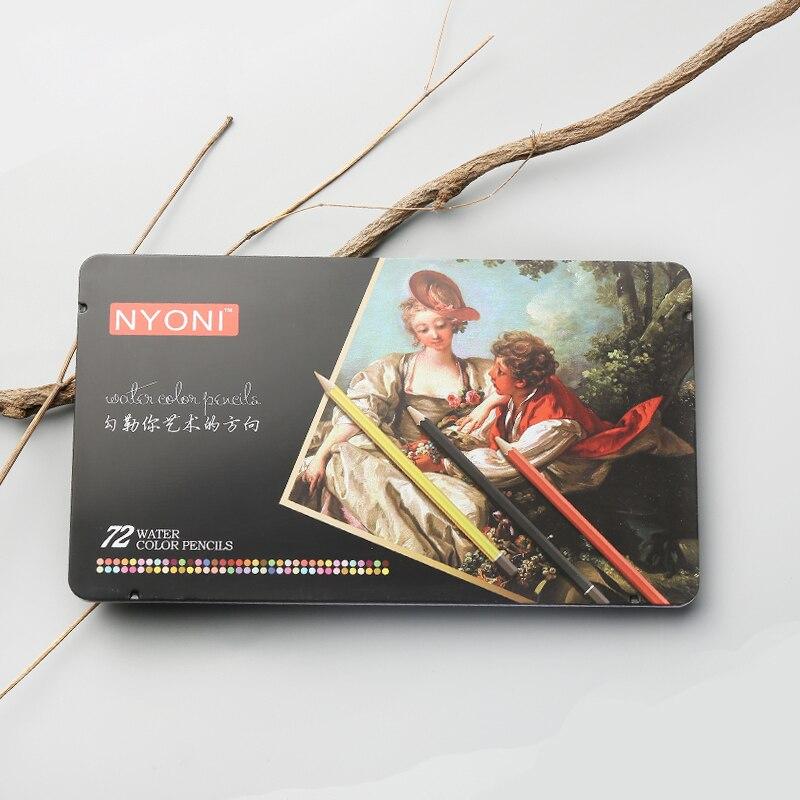 Chenyu 12/24/36/48/72 lápis de aquarela premium macio núcleo lápis cor solúvel profissional para a escola de arte supplie