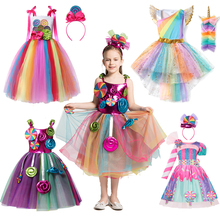 Привлекательного леденцового Одежда для девочек; Сезон лето; Стиль «Лолита»; Детские карнавальные костюмы платье для маленьких девочек на ...
