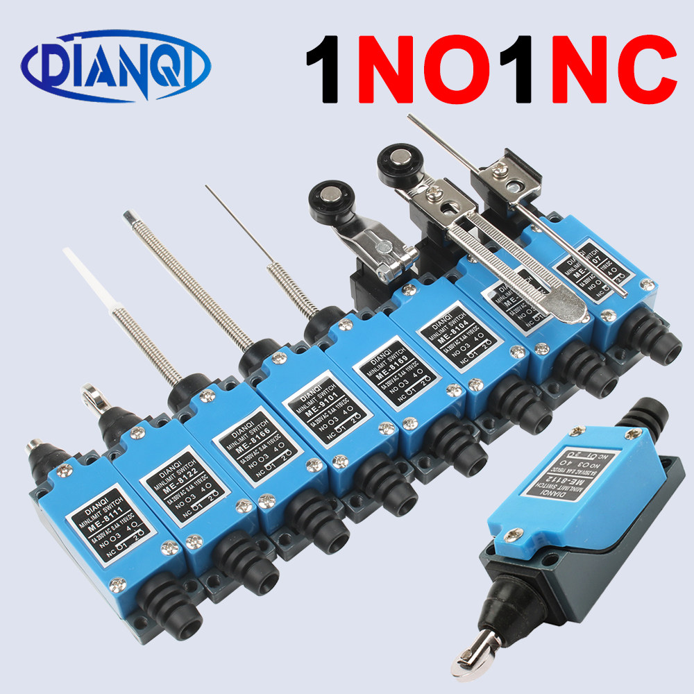 F Fityle 5Pieces ME-8108 Adjustable Roller Lever Arm Limit Switch NC-NO pour CNC Mill