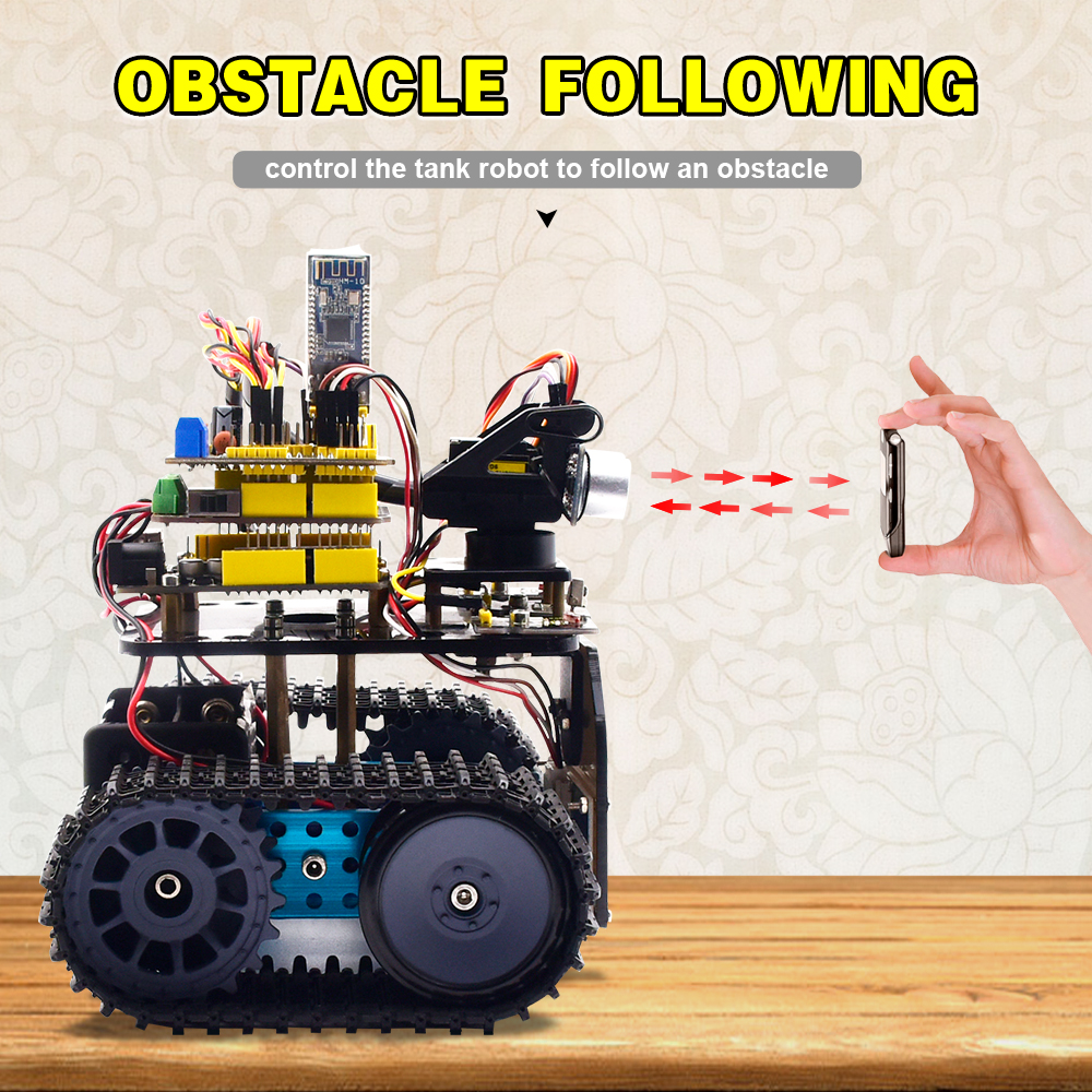 NEW!Keyestudio DIY Mini Tank Robot V2.0 Smart Robot car kit for Arduino Robot STEM /Mixly