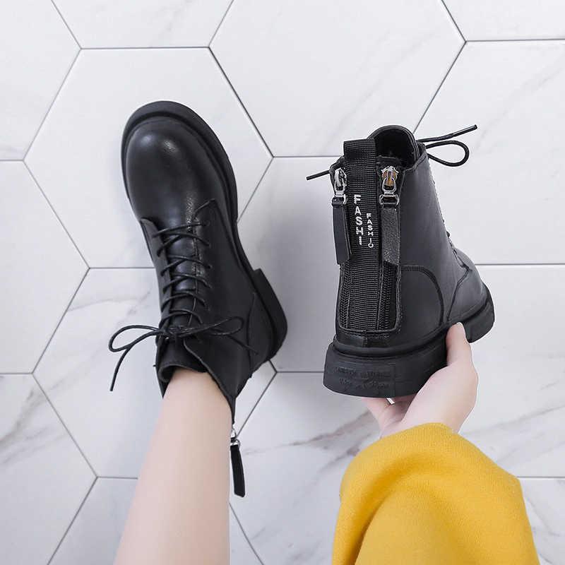 COOTELILIl 2019 ใหม่ผู้หญิง BOOT แฟชั่นผู้หญิงข้อเท้ารองเท้าซิปฤดูหนาวรองเท้าอุ่นรองเท้า Feminina หญิงข้อเท้ารองเท้าผู้หญิง Botas