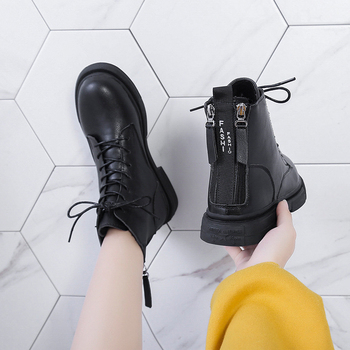 COOTELILIl 2019 New Women Boot Fashion Women Ankle Boots Zip Winter Warm Shoes Boots Feminina Female Ankle Boots Women Botas flat with genuine leather women martin boots winter warm shoes botas feminina female motorcycle ankle fashion boots women botas