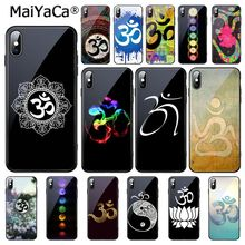 MaiYaCa Aum Om Yoga Tempered Glass Phone Case For i