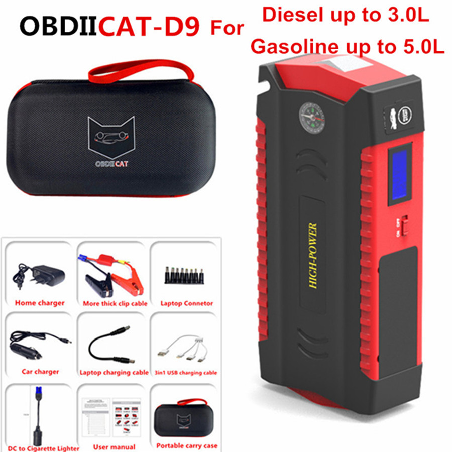 Jump-Starter Booster Car-Charger Battery-Power-Bank Multi-Function Russion Obdiicat-D9-Car title=