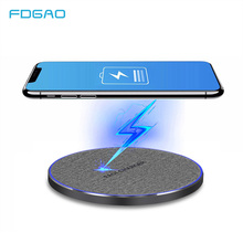 FDGAO 15W QC 3.0 Qi Fast Wireless Charger For iPhone XS XR X 8 Tpye C Quick 10W Charging Pad Samsung S10 S9 Huawei P30 Pro