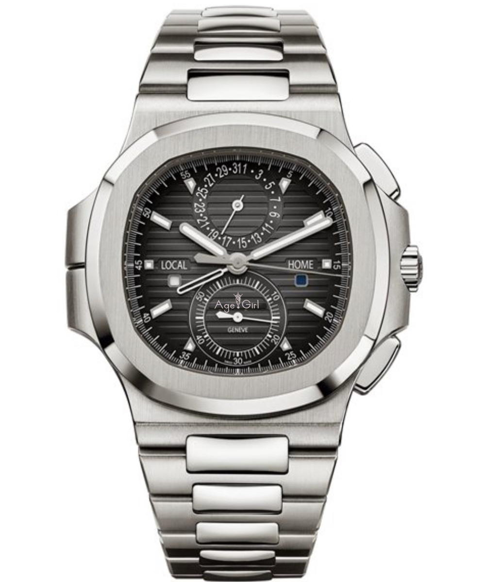 Luxury Brand New Chronograph Men Watch Stopwatch Sapphire Stainless Steel Sport Waterproof Silver Blue Black Dual Time Zone AAA+