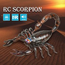 2019 Infrared Remote Control Realistic Fake Mock Scorpion with 360'Rotation RC Prank Insect Bugs for Joke Scary Trick Toy Kid все цены