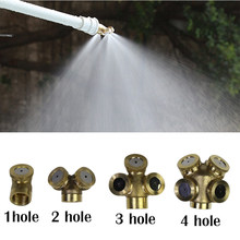 Adjustable Brass Spray Misting Nozzle Garden Sprinklers Fitting Hose Water Connector Durable Home Irrigation Fitting(China)