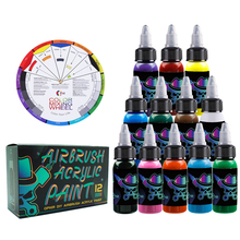 цена на OPHIR Airbrush Acrylic Paint for Model Shoes Leather Painting Airbrush DIY Paint Model Acrylic Paint TA005