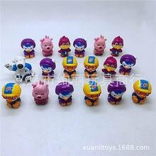 5 pçs coreano pai criança educação cartoon pororoing figura modelo brinquedos