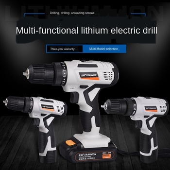 Super Large Torsion Lithium Electric Drill Hand Drill Household Electric Drill Rechargeable Electric Screwdriver Milwaukee hot electric drill hitachi d13vg