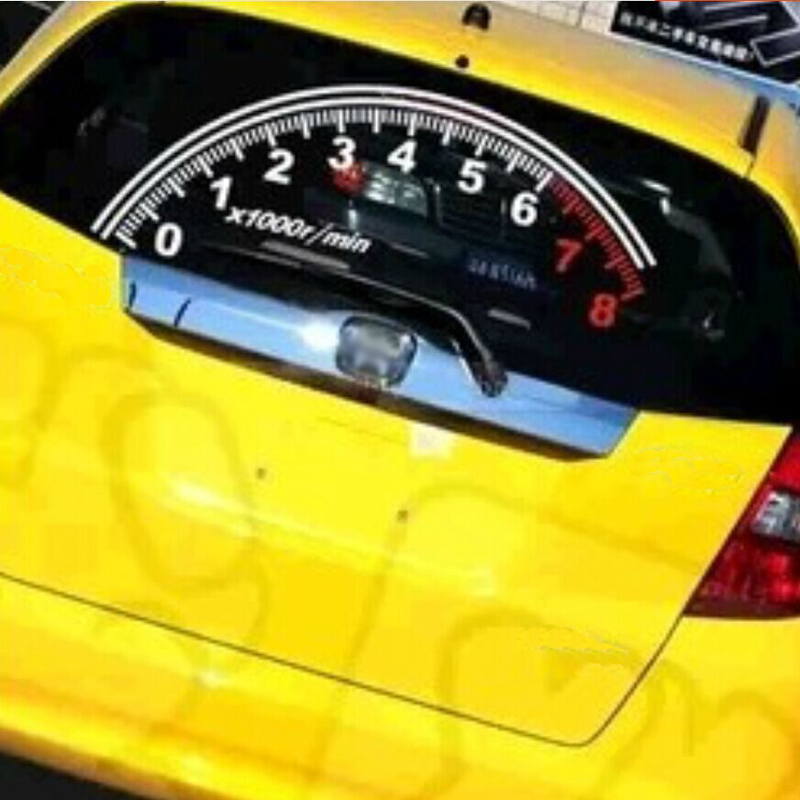 Купить с кэшбэком BEMOST Auto Reflective Car Rear Window Decoration Speedometer Sport Cool Car Sticker Stickers 60*30cm Accessories Car Styling