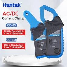 Medidor atual cc65 cc650 da braçadeira de hantek ac/dc para o osciloscópio 400hz largura de banda 1mv/10ma 650a CC-650 com bnc/conector tipo banana