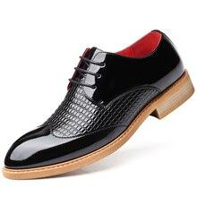 גודל 38 48 Mens עסקים שמלת נעלי מותג עור אופנה מחודדת לבן פורמליות נעל גברים אוקספורד משרד נעלי חתונה ווקר שיא