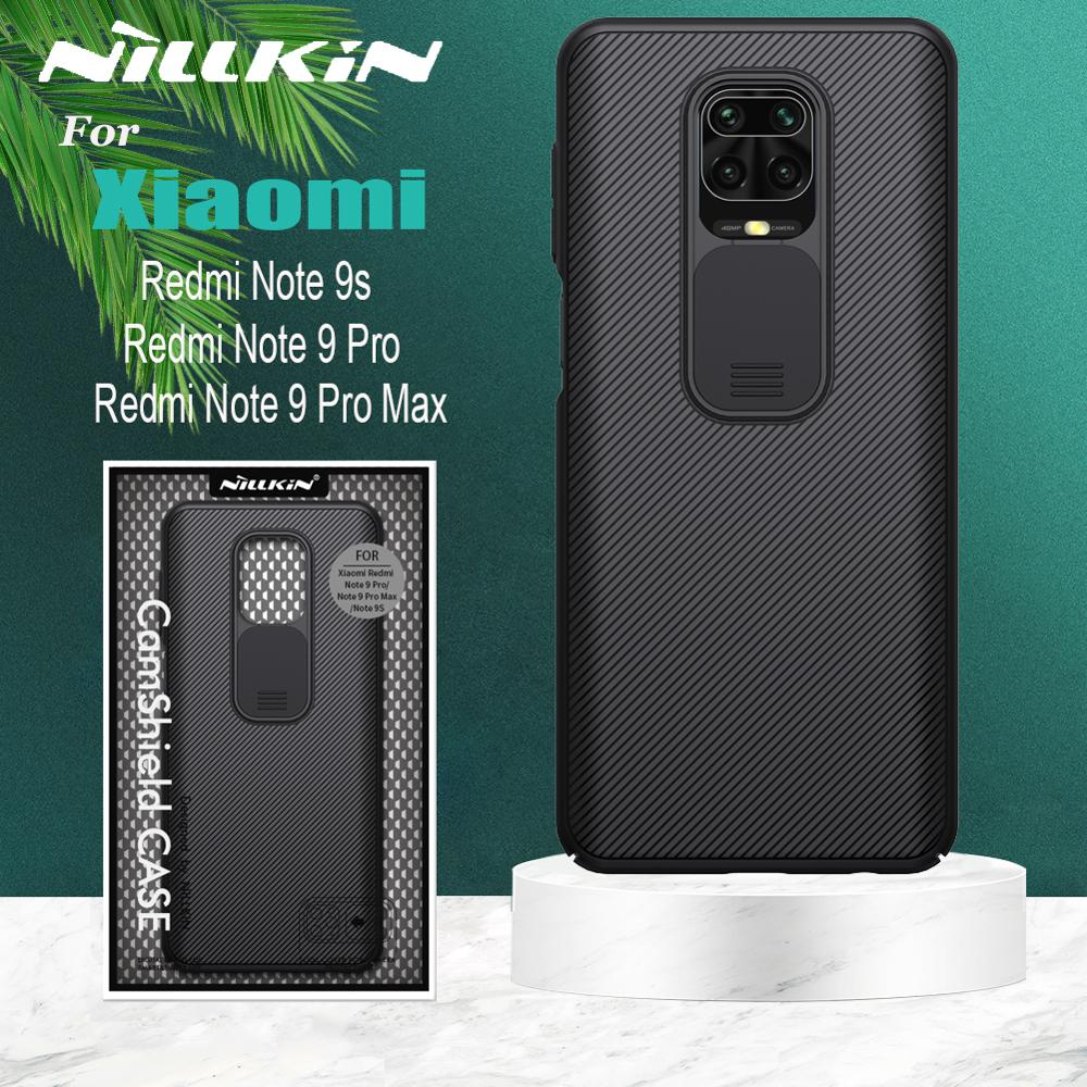 NILLKIN for Xiaomi Redmi Note 9 Pro Max 9s Mi 10 Lite Case Casing for iPhone 11 Pro Max 8 7 SE Slide Camera Lens Protect Case