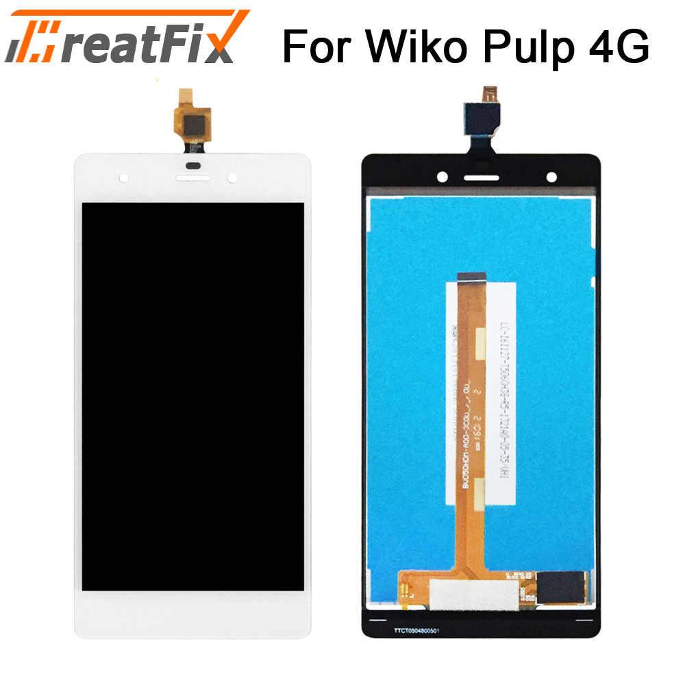Świetna poprawka testowana Wiko Pulp fab 4g LCD z ekranem dotykowym Digitizer dla Wiko Pulp 4G wyświetlacz LCD z zespół ekranu dotykowego