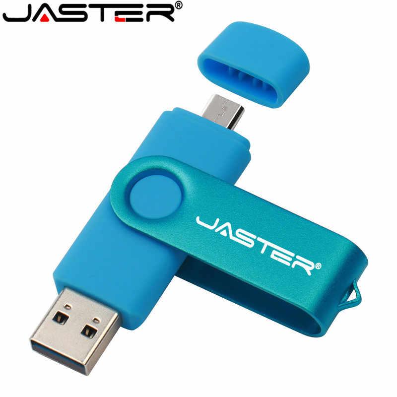 Jaster usb 2.0 otg usb フラッシュドライブ、スマート電話タブレット pc 4 ギガバイト 8 ギガバイト 16 ギガバイト 32 ギガバイト 64 ギガバイト pendrives otg 実容量 usb スティック