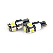 цена на 2 Pcs  W5W T10 5SMD 5050 Canbus error free  Auto Car LED Bulb light reading light side light with ring