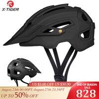 X-TIGER Radfahren Helm TRAIL XC Fahrrad Helm In-mold MTB Fahrrad Helm Straße Berg Fahrrad Helme Sicherheit Kappe Männer frauen