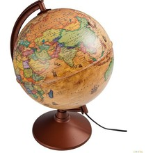 Illuminated Antique Globe 26Cm