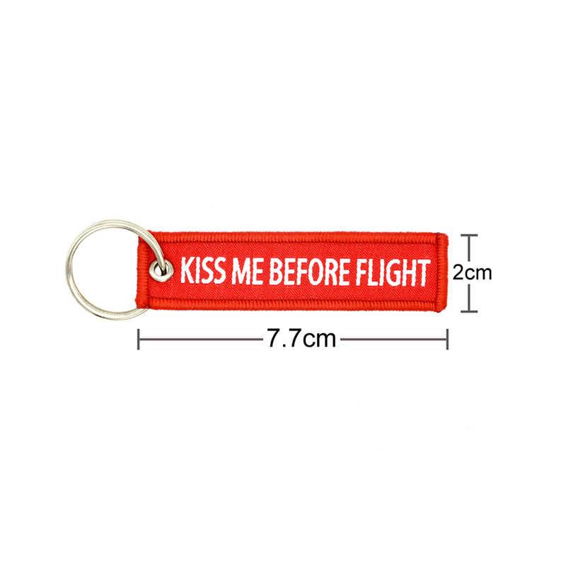 Drive Veilig Sleutelhanger IK nodig u hier met me 7.7*2cm KISS ME BEFORE FLIGHT Sleutelhanger Luchtvaart label CREW Hanger vrouwen mannen Outdoor
