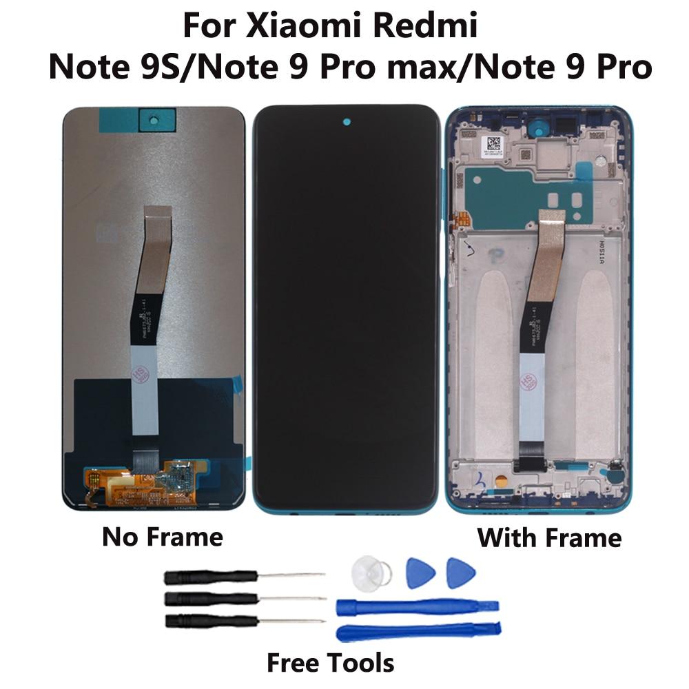 6,67 дюйма для Xiaomi Redmi Note 9 Pro max / Note 9 Pro, ЖК-дисплей, сенсорный экран, дигитайзер, для запчастей для Redmi Note 9S с ЖК-дисплеем