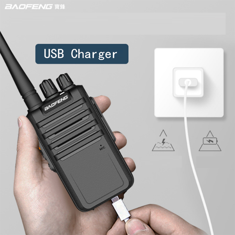 2pcs/lot BAOFENG BF-M4 Walkie Talkie Two Way Radio UHF 400-470MHz 16CH Portable Transceiver With Earpiece Long Standby M4 Plus
