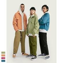Cooo Coll Men Denim Jacket Long Sleeve Streetwear Joggers Harajku Ackets Basic Kanye west Tops Casual Jackets Outwear Coats