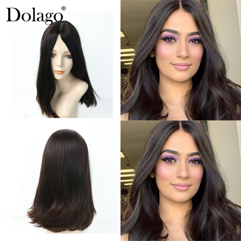 130% Silk Base Lace Front Human Hair Wigs Silk Top Jewish Wig Kosher European Virgin Hair Women Double Drawn Lace Wig Dolago