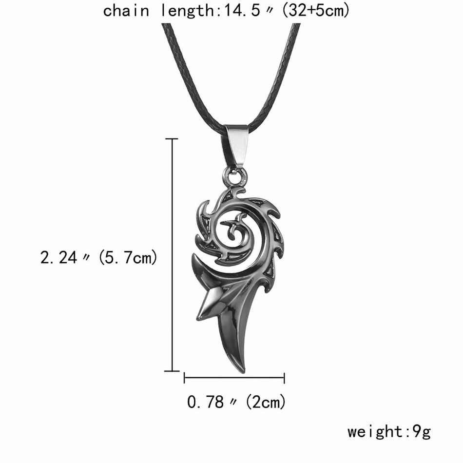 Punk Dragon Flame, titanio, acero inoxidable, cuero frío, cadena colgante, collar de Phoenix personalidad, joyería con carácter Simple