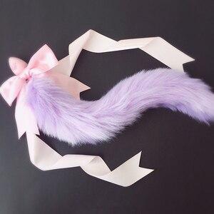 Image 3 - 100% Handmade piękny japoński miękki ogon lisa łuk silikonowy tyłek korek analny erotyczne akcesoria Cosplay dorosłych zabawki erotyczne dla par
