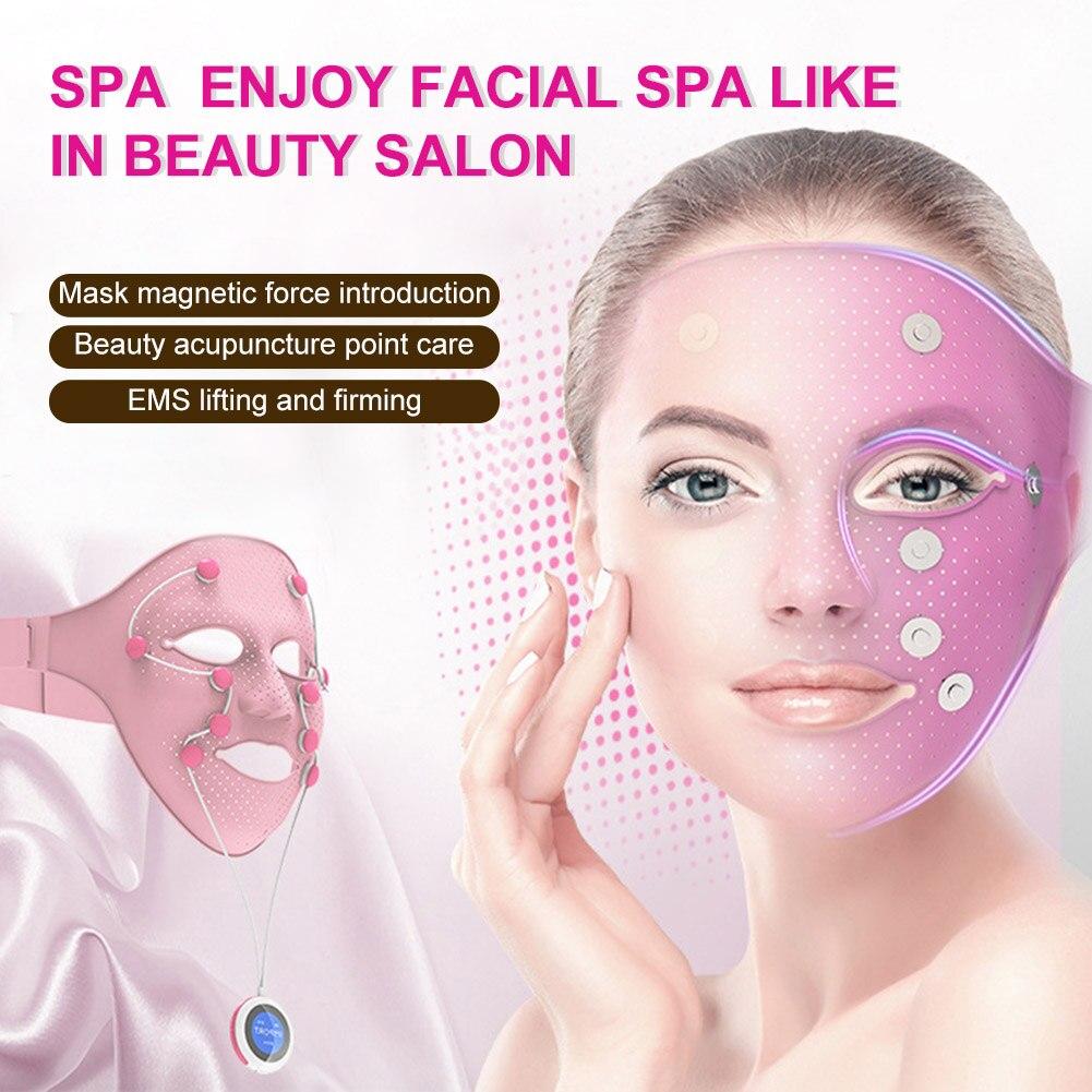 ems eletrica vibracao massager da beleza rosto completa face da tampa anti rugas face levantamento creme
