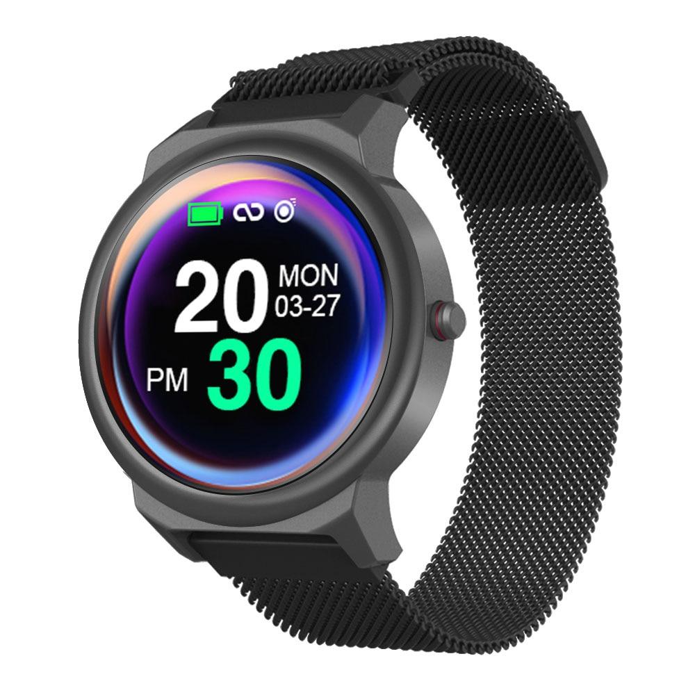 Smart Watch Men Women Full Round Touch Screen  WristBand Steel Case Strap Replaceable IP67 Waterproof SmartBand Sport Bracelet