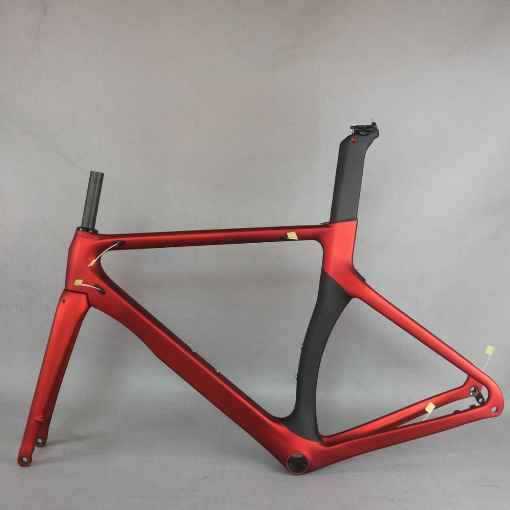 2021 new metal red color aero design  Disc  carbon road bike frame carbon fibre racing disc  bicycle frame700c  bicycle TT-X3