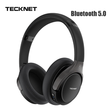 TeckNet Foldable Bluetooth 5.0 Earphone with Mic Wireless Bluetooth Headset Noise Cancelling Hi Fi Stereo bluetooth Headphones